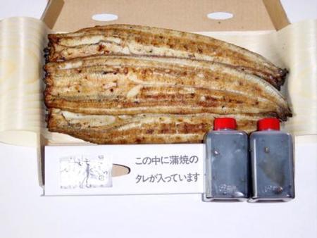 うなぎの炭火焼き白焼き (2500円/3本)